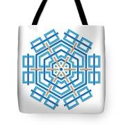 Abstract Hexagonal Shape Tote Bag