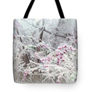 Abstract Ice Covered Shrubs Tote Bag