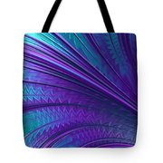 Abstract In Blue And Purple Tote Bag