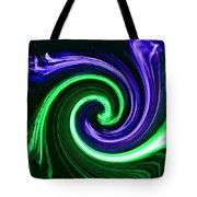 Abstract In Green And Purple Tote Bag