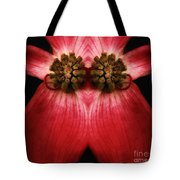 Nature In Abstract Dogwood Blossom 2 Tote Bag