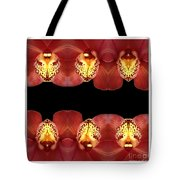 Nature In Abstract Orchid Square Tote Bag