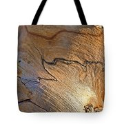 Abstract In Old Wood Tote Bag