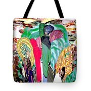 Abstract Inca Warriors Past Present And Future Tote Bag