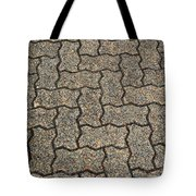 Abstract Interlocking Pavement Tote Bag