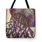 Abstract Jellyfish In Ink Tote Bag