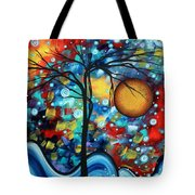 Abstract Landscap Art Original Circle Of Life Painting Sweet Serenity By Madart Tote Bag