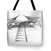 Abstract Landscape Art Black And White Baby Please Don't Go By Romi Tote Bag