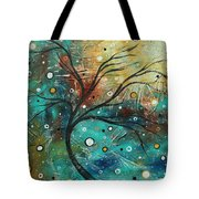 Abstract Landscape Art Original Colorful Heavy Textured Painting Cracked Facade By Madart Tote Bag