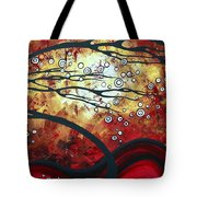 Abstract Landscape Art Original Painting Where Dreams Are Born By Madart Tote Bag