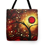 Abstract Landscape Glowing Orb By Madart Tote Bag