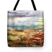 Abstract Landscape Morning Mist Tote Bag