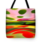Abstract Landscape Of Happiness Tote Bag