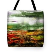 Abstract Landscape Sunrise Sunset Tote Bag