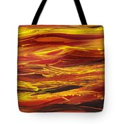 Abstract Landscape Yellow Hills Tote Bag