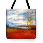 Abstract Lanscape Tote Bag