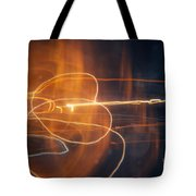 Abstract Light Streaks Tote Bag