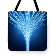 Abstract Lighting Lines Tote Bag by Setsiri Silapasuwanchai