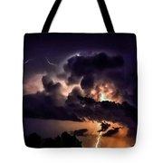 Abstract Lightning 14 Tote Bag