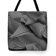 Abstract - Lines - Path To Destruction Tote Bag