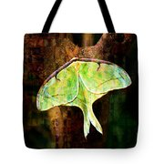 Abstract Luna Moth Painterly Tote Bag