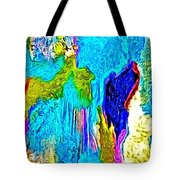 Abstract Melting Planet Tote Bag