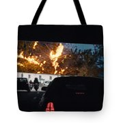 Abstract Mixmedia Patchwork Pleasure Drive End Of The Tunnel Bridge Paris France Tote Bag