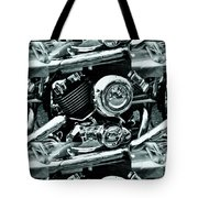 Abstract Motor Bike - Doc Braham - All Rights Reserved Tote Bag