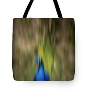 Abstract Moving Peacock  Tote Bag by Georgeta Blanaru