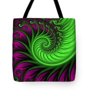 Abstract Neon Colors Fractal Tote Bag