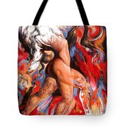 Abstract Nude Liberating From Self- Egoistic Consciousness Tote Bag