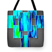 Abstract Ocean Tiles Tote Bag