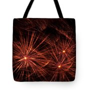 Abstract Of Fireworks On Black Tote Bag