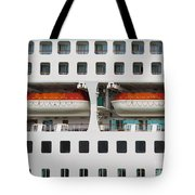 Abstract Of Lifeboats On A Large Cruise Ship Tote Bag