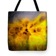 Abstract Of Sunflowers Tote Bag