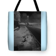 Abstract Of Thames Embankment  As Solarised Tote Bag