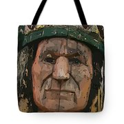 Abstract Of Wooden Indian Head Tote Bag