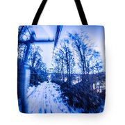 Abstract On A Ski Lift Tote Bag