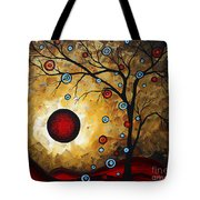 Abstract Original Gold Textured Painting Frosted Gold By Madart Tote Bag