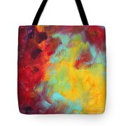 Abstract Original Painting Colorful Vivid Art Colors Of Glory I By Megan Duncanson Tote Bag