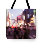 Abstract Out-of-focus City Scenery With Colorful Lights Tote Bag