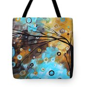 Abstract Painting Chocolate Brown Whimsical Landscape Art Baby Blues By Madart Tote Bag