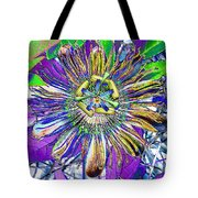 Abstract Passion Flower Tote Bag