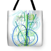 Abstract Pen Drawing Fifty-eight Tote Bag