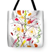 Abstract Pen Drawing Fifty-five Tote Bag