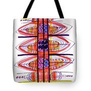 Abstract Pen Drawing Fifty Tote Bag