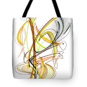 Abstract Pen Drawing Fifty-nine Tote Bag