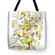 Abstract Pen Drawing Fifty-seven Tote Bag
