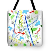 Abstract Pen Drawing Fifty-three Tote Bag