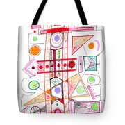 Abstract Pen Drawing Fifty-two Tote Bag